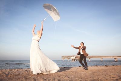 Hochzeitsfotografie in Heiligenhafen am Strand - Hochzeitsfotograf Treibgutmedia
